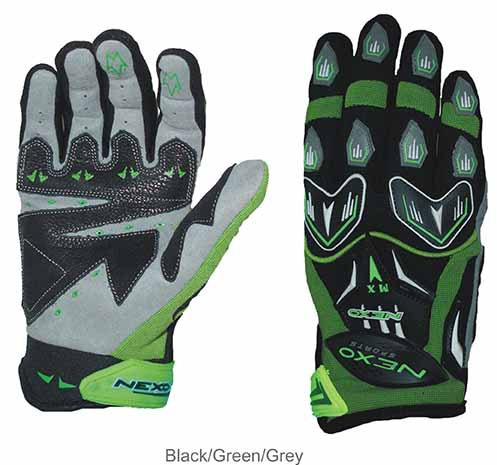 Nexo Sports MX Green Gloves