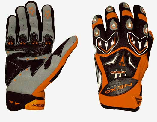 Nexo Sports MX Orange Gloves