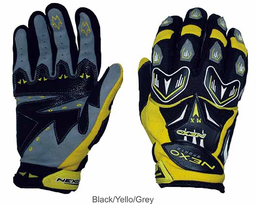 Nexo Sports MX Yellow Gloves