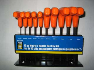 Hex key set - metric