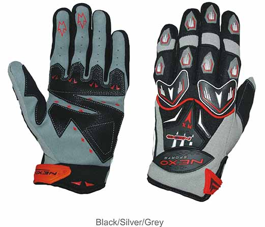 Nexo Sports MX Silver Gloves
